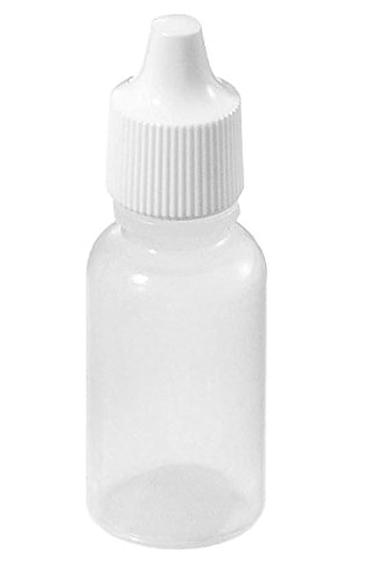 BeautyCN 20個5ml/15ml/50ml 空の半透明の目薬ボトルローション溶剤軽油絵画アート電子タバコ容器詰め替え式ボトル (15ml)