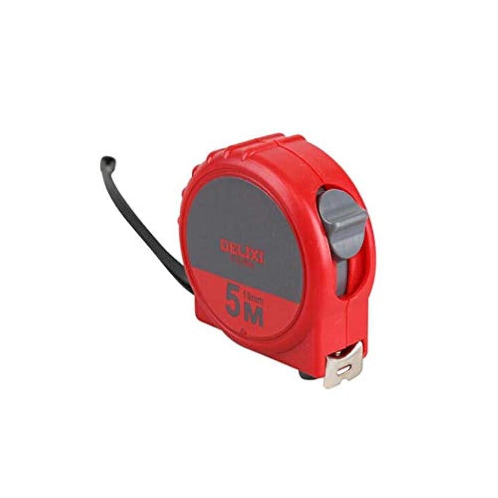 ダッシュ平方つぶすQiaoxianpo001 鋼製巻尺、2 M 3 M 5 Mミニ小型巻尺、高精度落下抵抗測定ツール 防食 (Color : Red, Size : 5m*19mm)