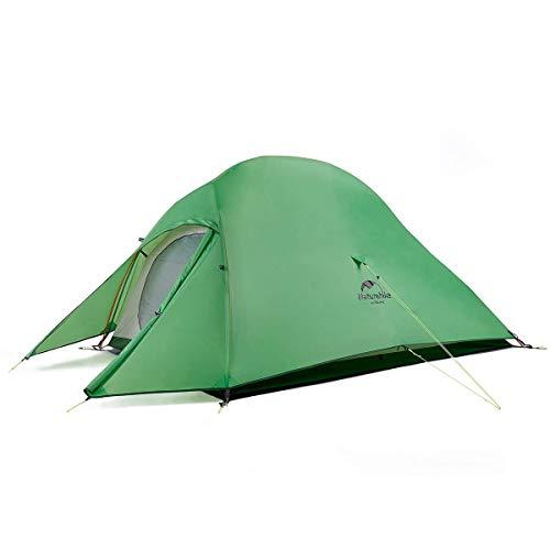 Naturehike テント 2人用 アウトドア 二重層 超軽量 4シーズン 防風防水 PU3000/4000 キャンピング プロフェッショナルテント CloudUp2アップグレード版(専用グランドシート付) (グリーン(210Tアップグレード))