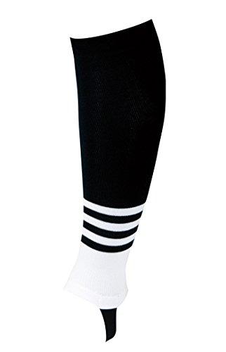 REWARD(レワード) サポストフレア ストッキング 天竺編 ST-43 43 ブラック ホワイト ブラック F