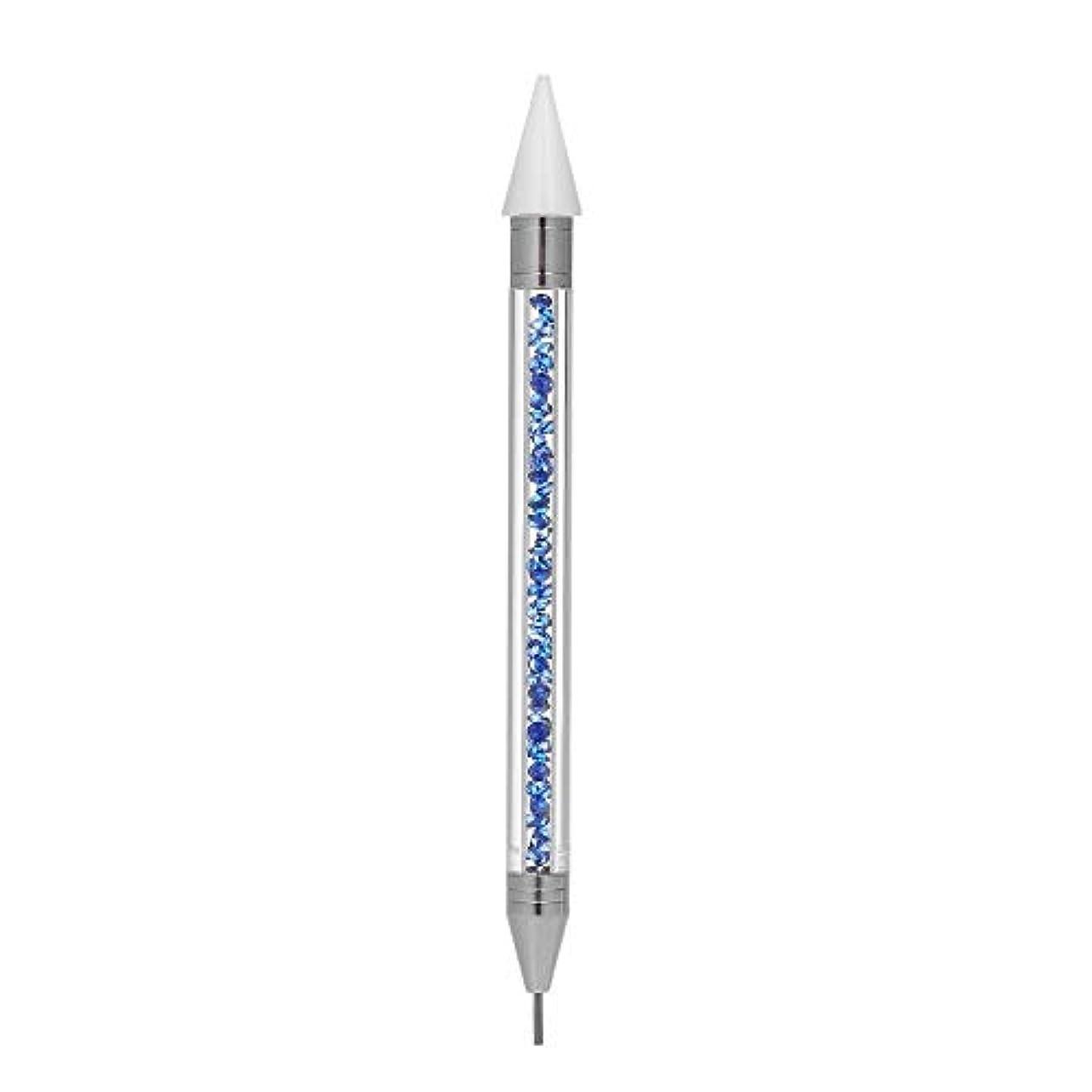 浸食パイ架空のネイルアートブラシ ネイルペン 掘削 ネイル点在ペン マニキュアツール ペン ラインストーン クリスタル ネイルアート 便利