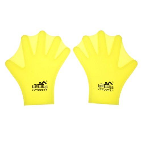 [해외]노 명품 아이 수영 물갈퀴가 달린 장갑 실리콘 손가락 핸드 패들 3 색 선택할/No-branded item Children swimworking glove Silicone finger hand paddle All three colors can be chosen