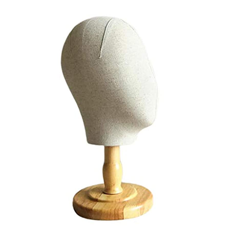 置くためにパック囲む囲むDYNWAVE マネキンヘッド 顔なし キャンバス ウィッグスタンド 帽子ハンガー ディスプレイ スタンド