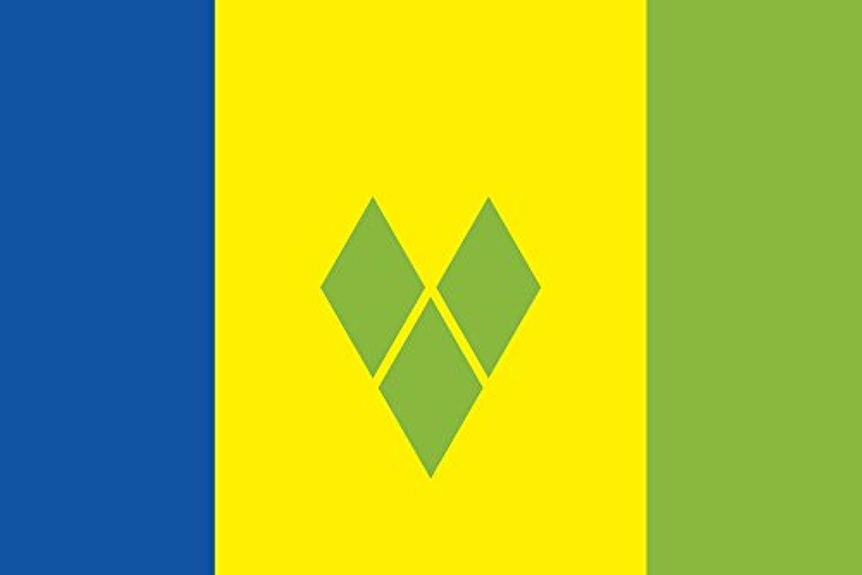 世界の国旗 セントビンセント グレナデイーン諸島 国旗 [120×180cm 高級テトロン製]