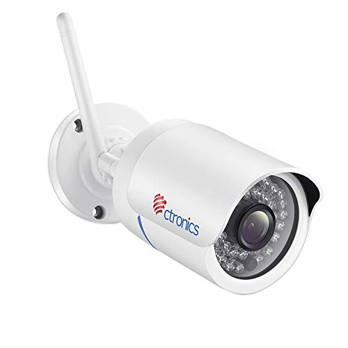 【WI-FI 屋外カメラ】 Ctronics 監視カメラ 屋外 IP66防水 防犯カメラ 720P 操作簡単 動体検知 プッシュ通...