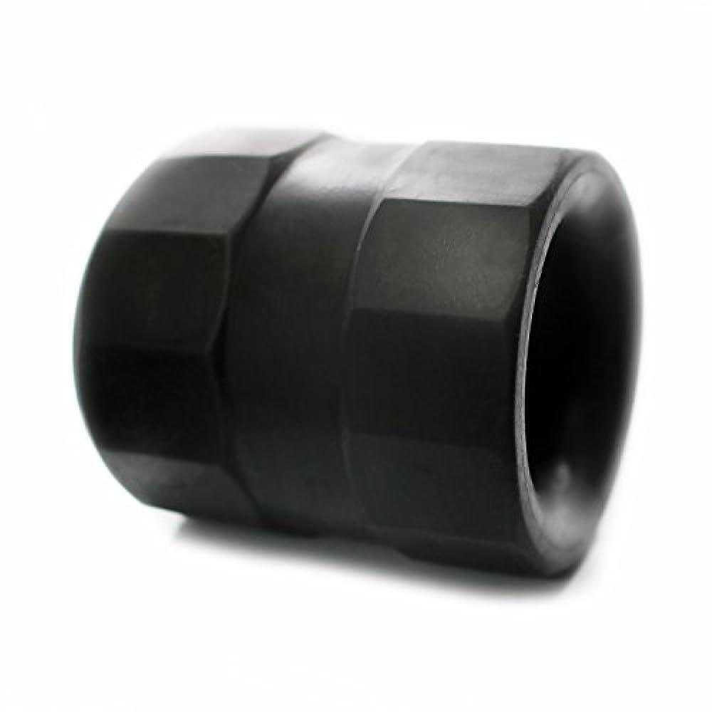 出します剃るテキストスーパーボールストレッチ TPE ボールストレッチャー コックリング 129 (ブラック)
