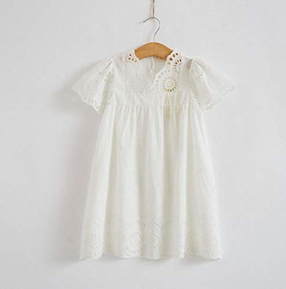報復する絶壁案件Summer baby boy girl white cotton dress lace dress casual Princess Dress cotton V baby girl clothes,White,7