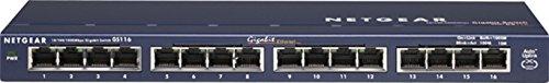 NETGEAR スイッチングハブ ギガビット16ポート/金属シャーシ/設定不要/外部電源/ファンレス静音設計/省エネ/オフィス向け/無償永久保証 GS116-200JPS