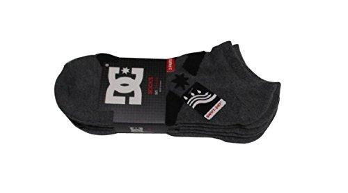 (ディーシーシュー)DC-SHOE メンズ スニーカー ソックス 靴下 チャコール3足組  (チャコ...