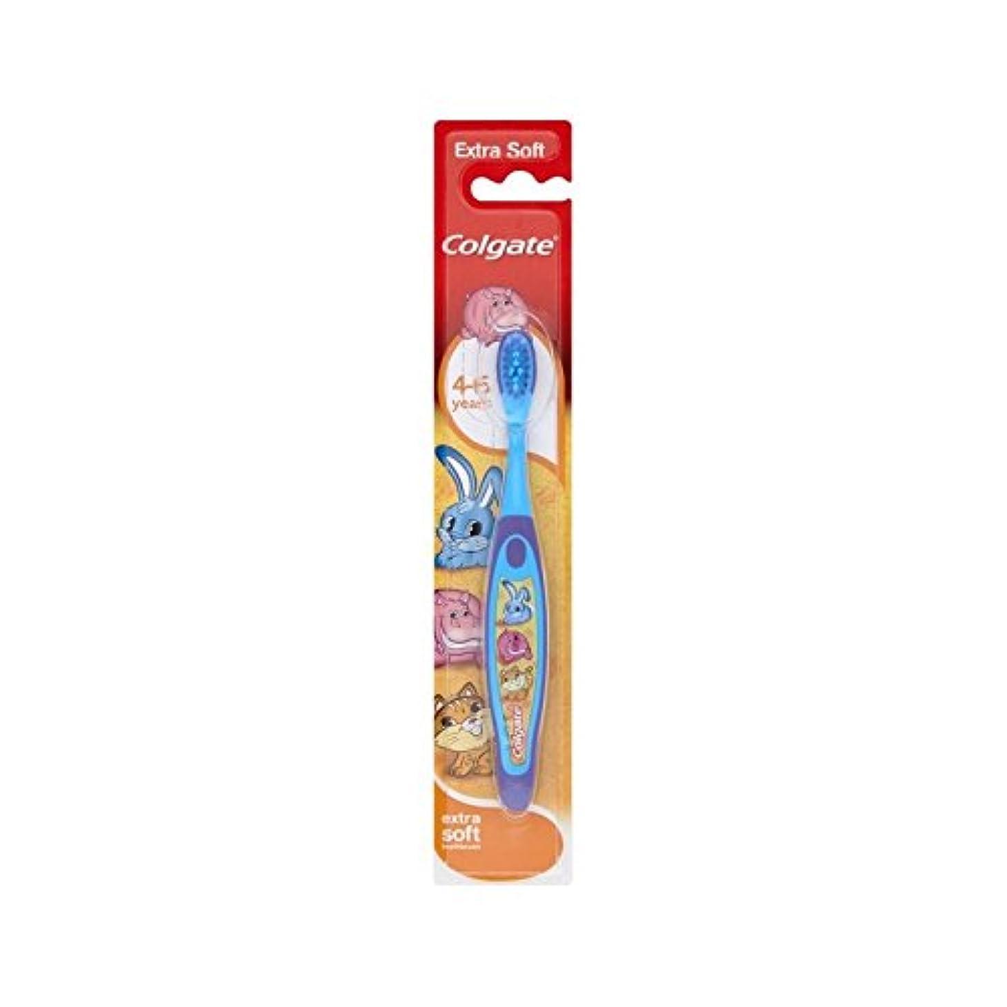厚いビジター曲4-6歳の歯ブラシを笑顔 (Colgate) (x 2) - Colgate Smiles 4-6 Years Old Toothbrush (Pack of 2) [並行輸入品]