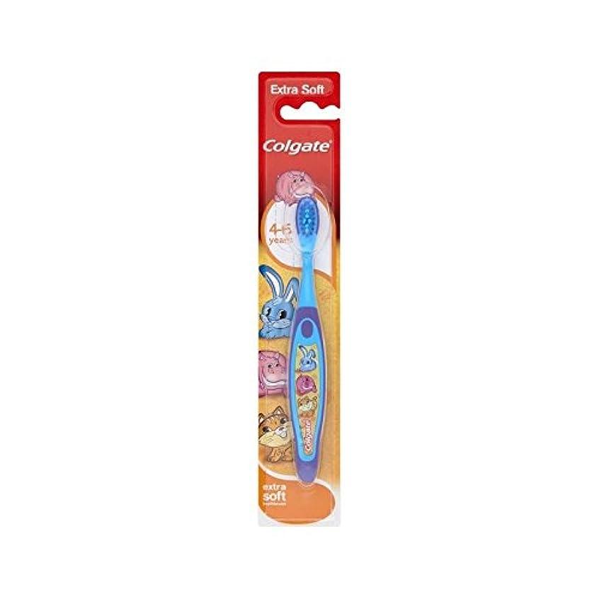 保守的糞特殊4-6歳の歯ブラシを笑顔 (Colgate) (x 6) - Colgate Smiles 4-6 Years Old Toothbrush (Pack of 6) [並行輸入品]