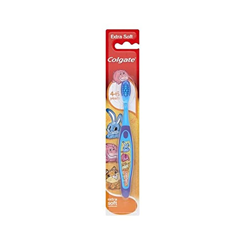 主人欺く過敏な4-6歳の歯ブラシを笑顔 (Colgate) (x 4) - Colgate Smiles 4-6 Years Old Toothbrush (Pack of 4) [並行輸入品]