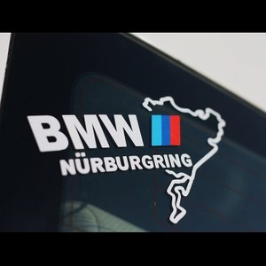 BMW Mスポーツ ニュルブルクリンク カッティングステッカー 10.5×20cm ブラック