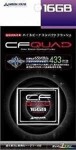 グリーンハウス 433倍速(65MB/s)ハイスピードコンパクトフラッシュ 16GB GH-CF16GFX