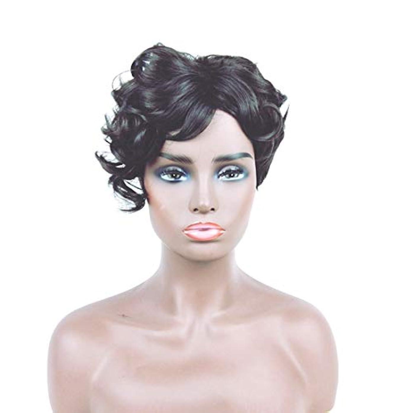 等価ゴミ箱を空にする骨Kerwinner 女性のための短い巻き毛のかつらブロンドのボブの髪かつら自然に見える耐熱合成かつら