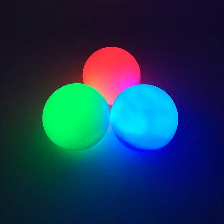 STARDUST LED ソフトロシアンジャグリングボール 充電式 78mm 100g [3個セット] (リモコン対応)(リモコン無)