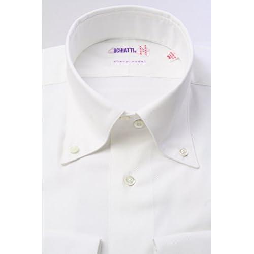 (スキャッティ) SCHIATTI 白の細身デュエボットーニ ボタンダウン【特別価格】ドレスシャツbd2740f-L(41-85)