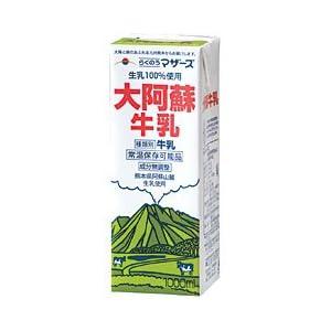 (ケース販売) LL大阿蘇牛乳1000ml×6本