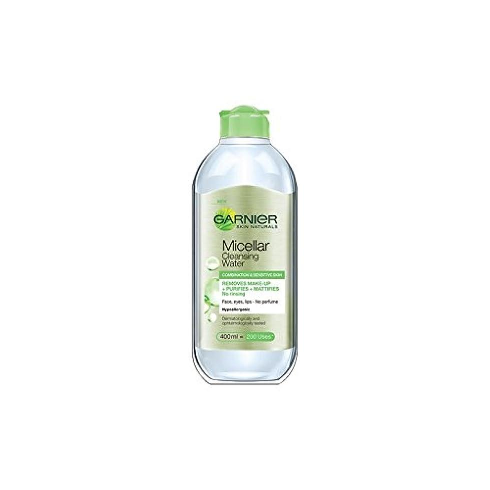 クラウド現実夜の動物園水の組み合わせや敏感肌のクレンジングガルニエ肌ナチュラルミセル(400ミリリットル) x4 - Garnier Skin Naturals Micellar Cleansing Water Combination And Sensitive Skin (400ml) (Pack of 4) [並行輸入品]