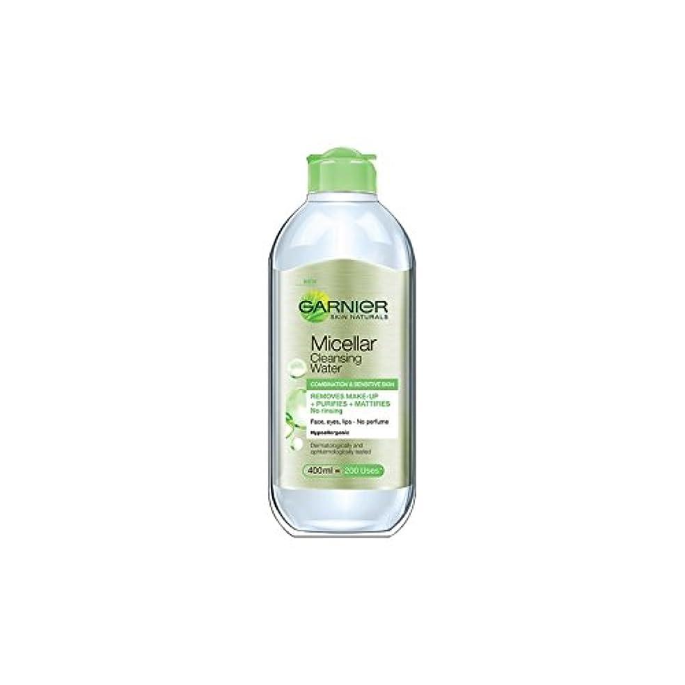 失礼ブルゴーニュ入場料水の組み合わせや敏感肌のクレンジングガルニエ肌ナチュラルミセル(400ミリリットル) x4 - Garnier Skin Naturals Micellar Cleansing Water Combination And...