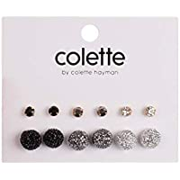 Colette Hayman - 6 Multi Pack Mixed Sparkle Stud Earrings