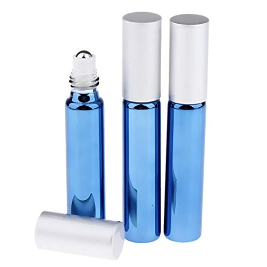 珍味中央値詐欺Perfeclan ローラーボトル リップグロス エッセンシャルオイル アイクリーム容器 10ミリリットル 全5色 - ロイヤルブルー