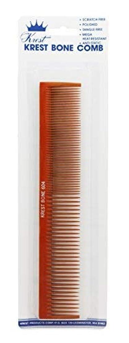 人工的な呪われた温帯Krest 7 3/4 Inch Larger Finger Waving?Hair Comb. All Purpose Hair Styling Comb. Heat Resistant Bone Hair Comb....