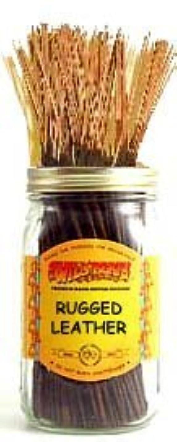 戦闘原理サーフィンRugged Leather - 100 Wildberry Incense Sticks [並行輸入品]