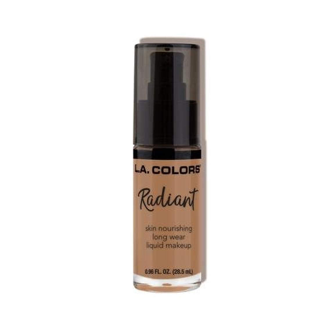 チャレンジ息を切らして効能ある(3 Pack) L.A. COLORS Radiant Liquid Makeup - Creamy Cafe (並行輸入品)