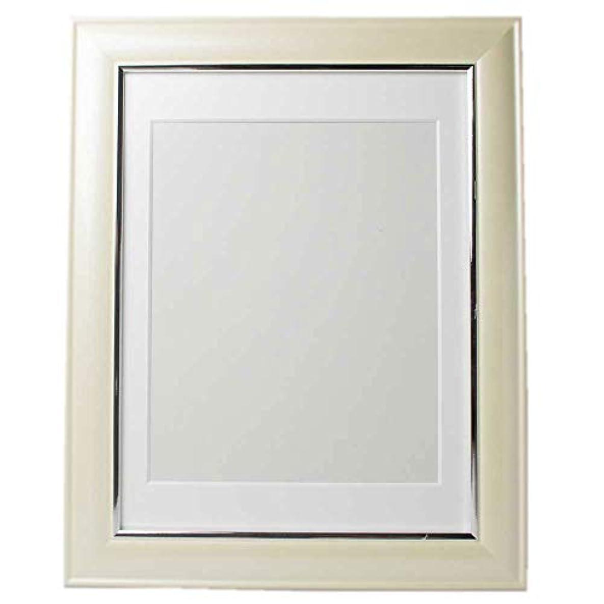 解任確率解説佐藤葬祭 遺影 クリーム 黄白色 額縁 肖像額 葬儀用四つ切写真 無反射ガラス