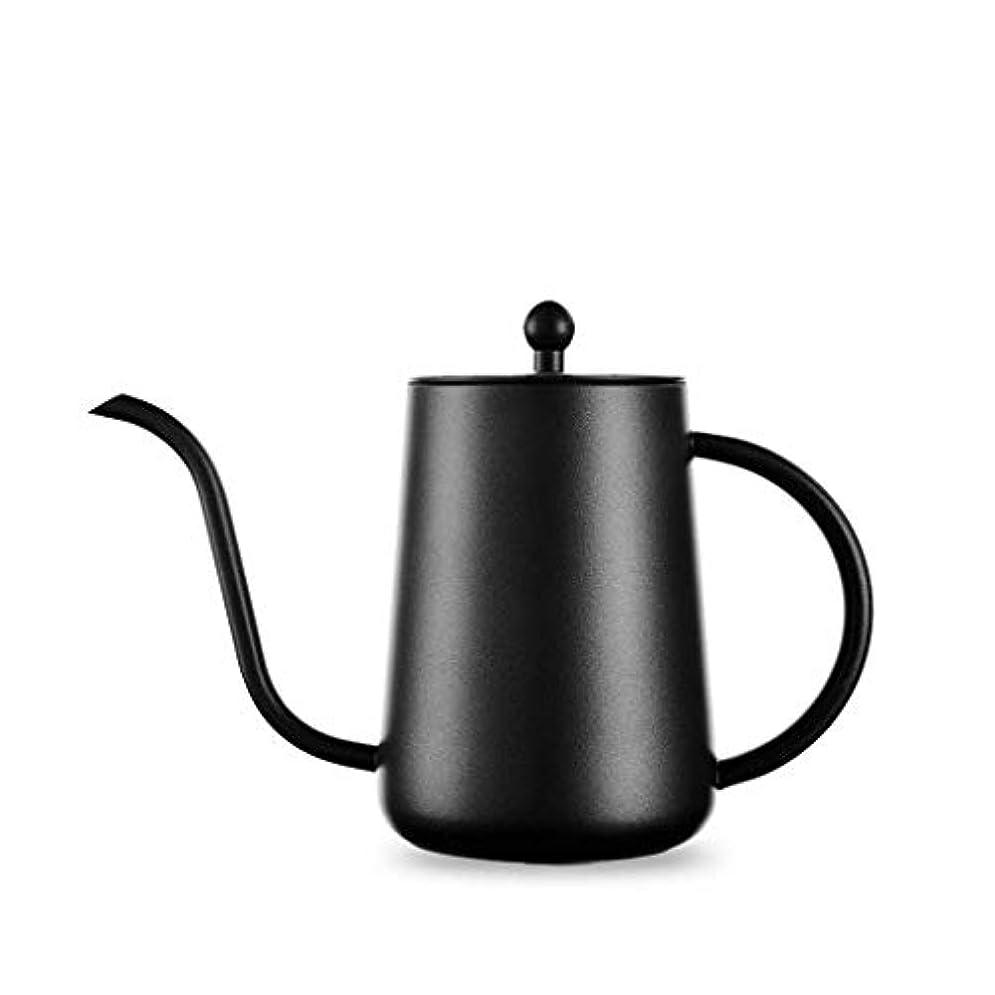 消毒剤フィルタベアリングサークルグースネックコーヒーメーカーステンレス鋼のハンドコーヒーポットテフロンロング口細い口のポットコーヒーポット初心者簡単にコントロール、700ミリリットル ジャーポット
