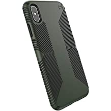 Speck Products Compatible Phone Case for Apple iPhone Xs Max/Presidio Grip Case, Dusty Green/Brunswick Black