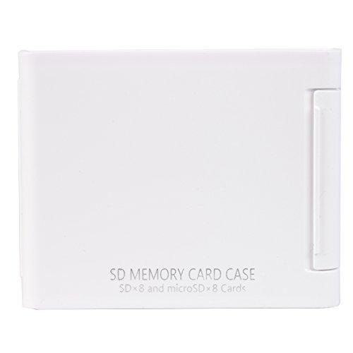 SDカードケースAS SD8 WH SD microSD各8枚収納可能 ホワイト 704431
