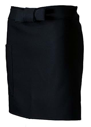(センツキ) SENTSUKI カフェエプロン 洋食 フェミニンショートサロン 日本製 着心地に自信あり ポリエステル100% [ 撥水 撥油 ] フリーサイズ (丈40cm) ブラック 12500K
