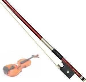 【DreamClasicc】 高級ローズウッド風 練習用にもぴったり! バイオリン弓(4/4 1本)♪ ♪♪ (弓のみ)