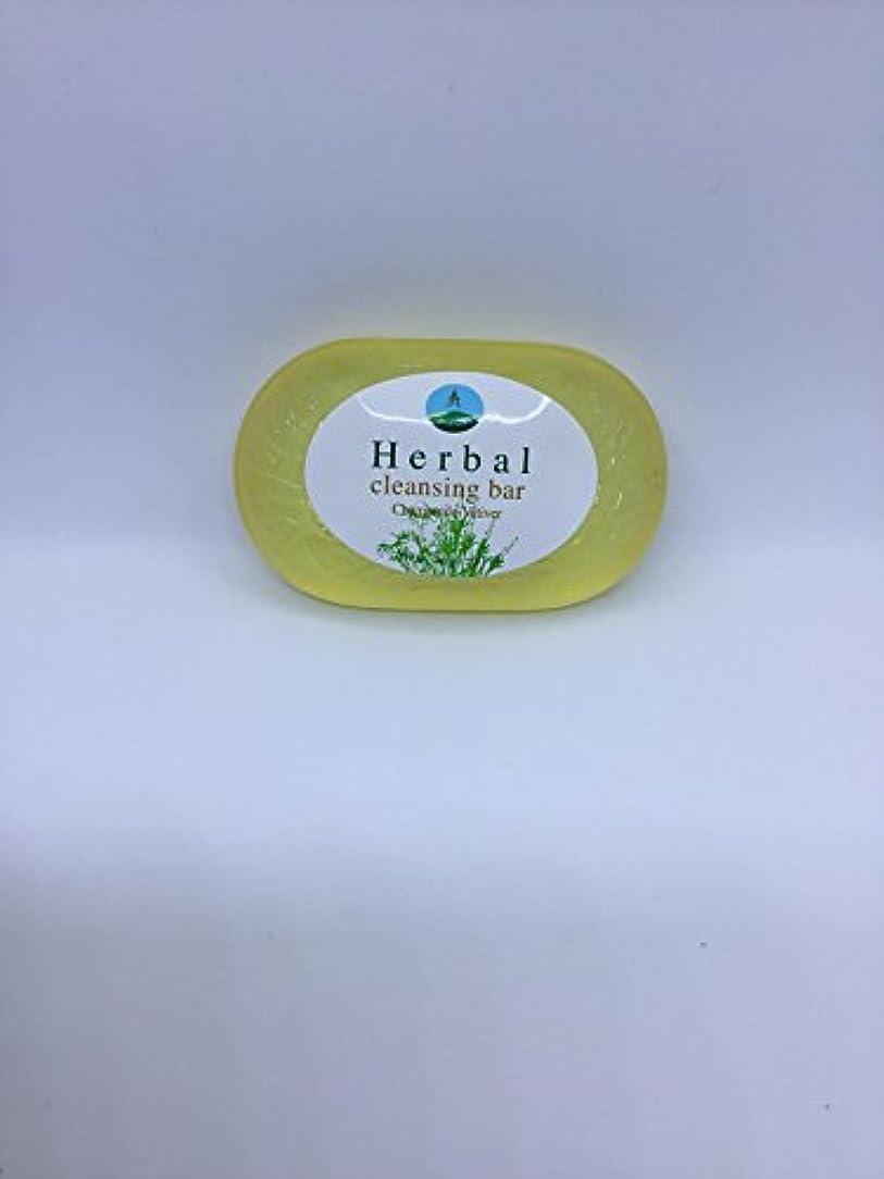メナジェリー特権的後ろ、背後、背面(部Herbal cleansing Bar Chamomile-Vetiver