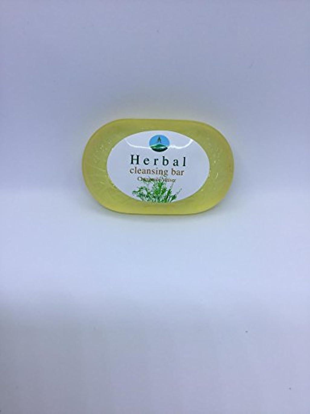 セーターキノコ歴史家Herbal cleansing Bar Chamomile-Vetiver