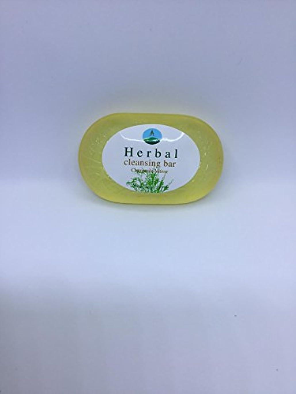 フェローシップスムーズに蓋Herbal cleansing Bar Chamomile-Vetiver