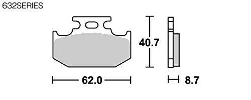 SBS ブレーキパッド 632HF セラミック セロー225/250 トリッカー ジュベル250 KLX650 等 777-0632000
