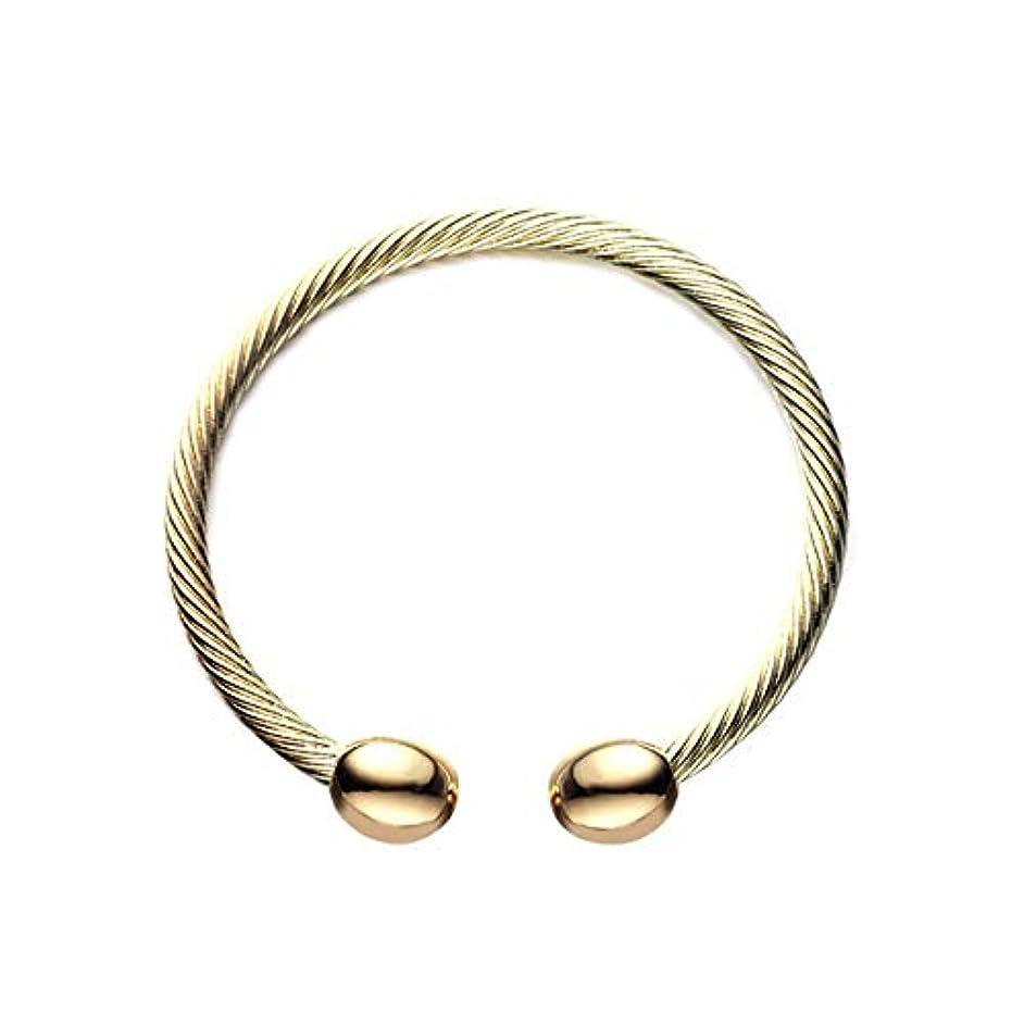 絶対の物質ピストンHealifty 女の子のための磁気バングルオープンバングルブレスレット(ゴールデン)