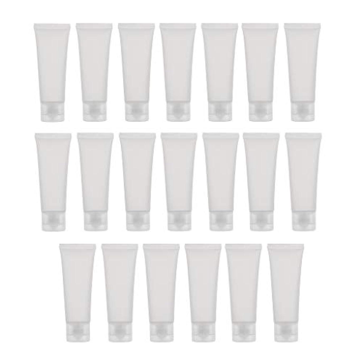 出くわす祭り強調するToygogo 20ピース/個 50ml空のプラスチックチューブボトルクリアボディ用ローションクリームシャンプー、DIY用フリップ蓋付き - #1