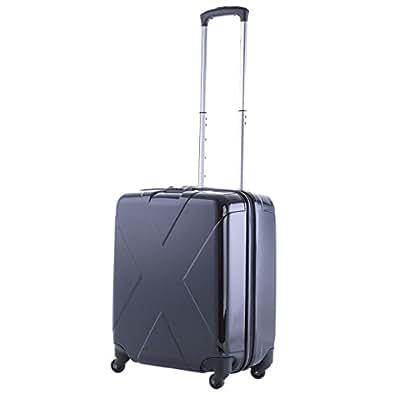エミネント マックスキャビン【75-23540/41.ブラック×ブラック色】 Sサイズ 40L機内持込 TSAロック スーツケース ポリカーボネート100% 容量最大級【ツートンカラー】【MAXCABIN】 (41.ブラック×ブラック)