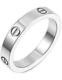 Best Ring Fashion Classic Jewelry 18K Titanium Steel Best Gifts for Women Men Couples Valentine's Day