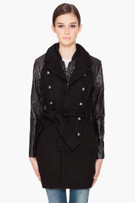 L-ERENOO レザージャケット Leather jackets ブラック サイズS 12001F096002 ディーゼル