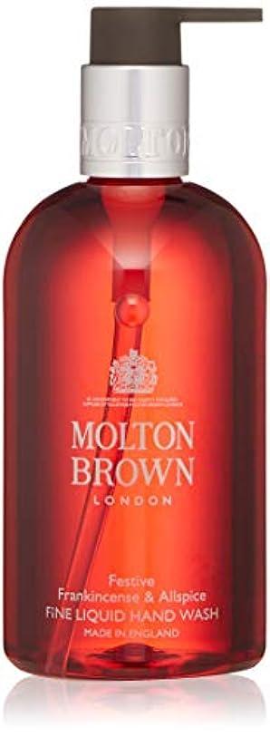 難しいポスト印象派アクティビティMOLTON BROWN(モルトンブラウン) フランキンセンス&オールスパイス コレクション F&A ハンドウォッシュ 300ml