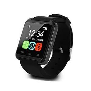 Bluetooth スマート ウォッチ 1.44インチ 超薄型フルタッチ ウォッチ 多機能 時計 健康 ◇U-WATCH ブラック 並行輸入品