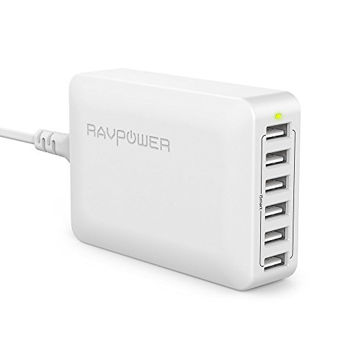 RAVPower USB充電器 (60W 6ポート) USB コンセント 急速 iPhone/iPad/Android 等対応 RP-PC028(ホワイト)