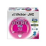 ビクター 映像用ブルーレイディスク くり返し録画用 50GB 2倍速 保護コート(ハードコート) ワイドホワイトプリンタブル 3枚 日本製 BV-E260HW3
