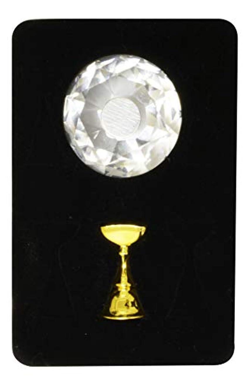 ブラウンコンチネンタルお客様ジュエリーチップスタンド ダイアモンド (1本ジグセット, ジグ/ゴールド)