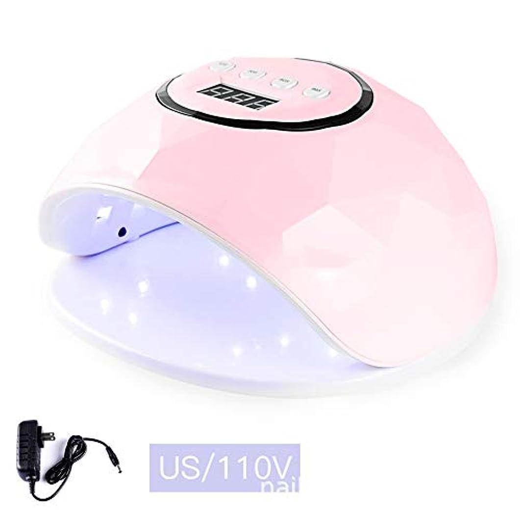 ホテル蓮寛容LittleCat F5インテリジェントセンサー72W LEDランプライト療法機械ネイルネイルポリッシュドライヤーの熱ランプガム (色 : Pink 110V flat plug 72 watts)